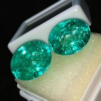 Loose Gemstones 8 to 9 Cts 2 Pieces Natural Emeralds Certified Best Offer