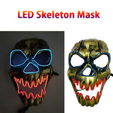 Light Up HALLOWEEN LED Scary Skeleton Skull Mask Halloween Costume Accessory