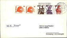 Schiffspost Stempel Schiff MS TRIER Ship Shipletter Brief frankiert Marken 1973