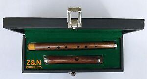 Irlandese Legno di Sheesham Si Bemolle Flauto 2 Parti Con Nero Custodia Rigida