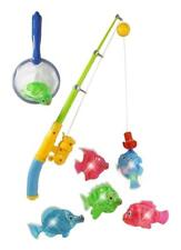 Kids Fishing Play Set Bath Toys Pool Water Magnetic Light Up Boy Girl Gift NEW