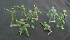 Vintage MPC Toy Soldier Figurines - Set of 8