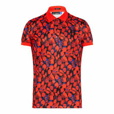 J. Lindeberg Big Bridge Polo Golf Tx Jersey / Red Camouflage / Large / $85