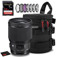 Sigma 85mm f/1.4 DG HSM Art Lens for Nikon F Accessory Kit