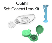 OptiKit - OptiWand soft contact lens tool + OptiAide eye dropper + OptiCase