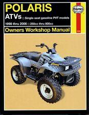 Haynes Manual 2508 - Polaris ATVs single seat petrol models 250-800cc (98 - 06)