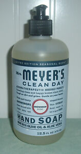 Mrs Meyers Clean Day Hand Soap SNOWDROP Limited Edition Choose Quantity 12.5 Oz