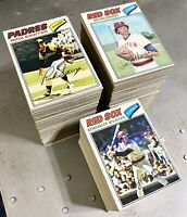1977 Topps Partial Starter Set Lot Of 550 Diff Andre Dawson Yount Schmidt Fisk