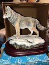 "Andrea By Sadek ""Gray Wolf�Porcelain Statue Figurine W/Base 7�"