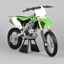 Kawasaki KX450F Alloy Diecast Vehicles Motor Cross Bike Motorcycle 1/6 Green Car