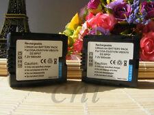 2X Battery For PANASONIC 7.2V CAM VDR-D100 VDR-D100EB-S VDR-D150 VDR-D150E-S