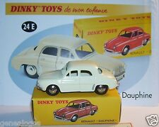 DINKY TOYS ATLAS RENAULT DAUPHINE BLANC CREME 1/43 REF 24E IN BOX