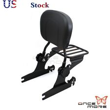 Rear Backrest Sissy Bar & Luggage Rack  For Harley Softail Fat Boy FLSTF 00-06