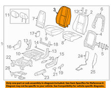 GM OEM Front Seat-Cushion Cover-Top Back 20843355