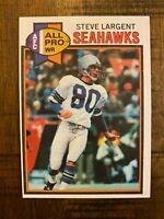 1979 Topps Steve Largent #198 Seattle Seahawks HOFer NRMT