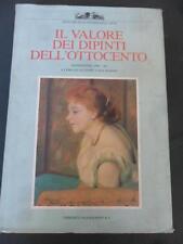 IL VALORE DEI DIPINTI DELL OTTOCENTO LIBRO ARTE 1989
