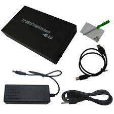 """3.5 """" USB 2.0 Externe Boîtier de disque dur SATA disque boîtier noir SET NEUF"""