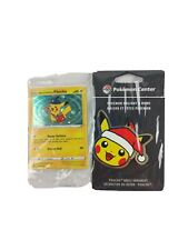 Special Delivery Pikachu Pokemon Center PROMO SWSH074 & Holiday Ornament Sealed