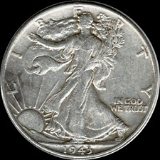 A 1943 P Walking Liberty Half Dollar 90% SILVER US Mint (Exact Coin Shown) 509