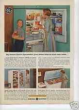 1963 GE General Electric Deep Freezer & Refrigerator Print Ad