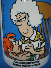 Tom Armstrong MARVIN Comics Grandparents Have Warm Laps Coffee Mug Cup Enesco