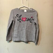 Gymboree Gray Long Sleeved Love Tee Size 5