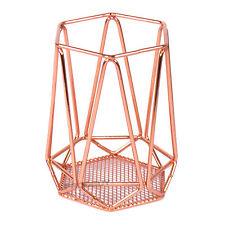 Alambre de cobre de color titular cubiertos Utensilio de almacenamiento de cocina Olla Caddy Tarro De Rack