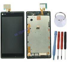 ECRAN LCD VITRE TACTILE SUR CHASSIS COMPLET SONY XPERIA L C2104 C2105 S36H NOIR