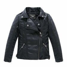 Kinder Jungen LederJacke Mädchen Coats Jacke Turn-down Collar Motorrad Kleidung