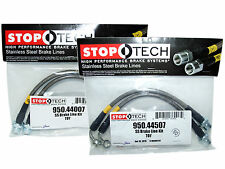 Stoptech Stainless Steel Braided Brake Lines (Front & Rear Set / 44007+44507)