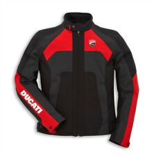 Ducati 13 Mens Ducati Corse C3 Textile Jacket -Black/Red/Anthracite-Size 58