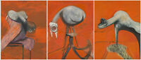 """Francis Bacon """"Three Studies for Figures at the Base of a Crucifixion"""", 1944 ART"""