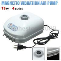 220V 15W Oxygen Aquarium Fish Tank 4 outlet Adjustable Silent Air Pump Generator