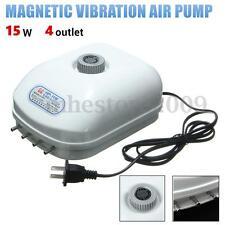 Oxygen Aquarium Fish Tank 4 outlet Adjustable Silent Large Air Pump Generator