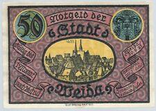 Notgeld - Stadt Weida - 50 Pfennig 1921 - Motiv 1 - Stadtkirche
