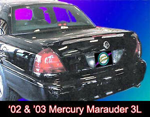 UNPAINTED MERCURY MARUADER CUSTOM STYLE SPOILER WITH LED BRAKE LIGHT 2003-2004
