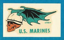 "VINTAGE ORIGINAL 1965 ED ROTH ""U.S. MARINES"" USMC HOT ROD BIKER WATER DECAL ART"