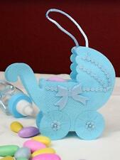 12 Mesh Baby Stroller Favors It's a Boy! - large, Blue  Bomboniere.Baby Shower