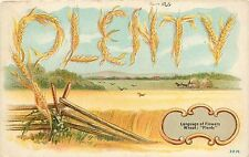 1907-1915 Chromolithograph Postcard; Language of Flowers, Wheat: Plenty, 2216