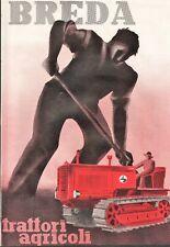 PUBBLICITA' 1949 TRATTORE AGRICOLO BREDA AGRICOLTORE CINGOLI TRACTOR APA