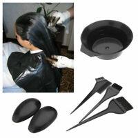 5pcs / Set Hair Colouring Brush And Bowl Set Bleaching Dye Kit Salon Comb Tint