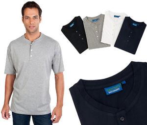 Serafino T-Shirt mit Knopfleiste Qualityshirts Gr. S - 8XL auch in Übergrößen