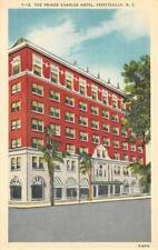 PRINCE CHARLES HOTEL Fayetteville, NC ca 1940s Vintage Linen Postcard