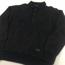 Paul & Shark Yachting Merino Wool Sweater  Medium Multi-Colored 1/4 Button Italy