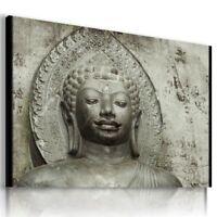 Gautama Buddha INDIA PINK FLOWERS Canvas Wall Art Picture  BB7 X MATAGA .