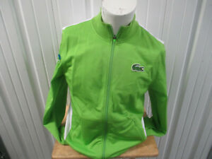 VINTAGE LACOSTE MIAMI OPEN TENNIS CHAMPIONSHIPS STAFF ZIP JACKET LARGE WOMEN;S