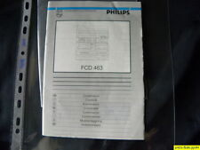 Philips FCD 463 Owner's Manual  Operating Instructions Istruzioni