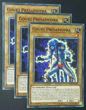 Set 3X  GOUKI PRESAPIOVRA  Comune in Italiano  FLOD-IT009 YUGIOH