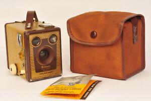 Kodak Brownie Six-20 Model F Medium Format Film Camera inc Case & Instructions