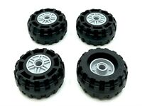 Lego 10 X Tyres with Rims New Light Grey Racers 30027 30028 Small